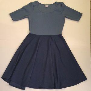 LulaRoe Blue Two Tine Dress
